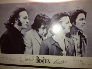 One of the Beatle posters hanging at Thai Restaurant