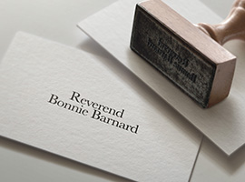 bonniecard Reverend Bonnie Welcomes You!